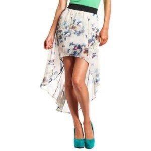 High low butterfly skirt
